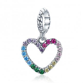 Sterling Silver Pendant Charm Rainbow Of Love - 7207