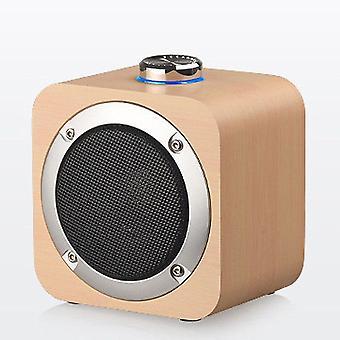Portable Wooden Bluetooth Speaker Wireless Bass Subwoofer Speaker MusicSpeakers( Bamboo Style)