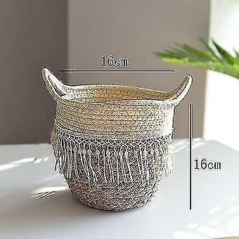 Baskets handwoven rattan storage basket for household and decor j