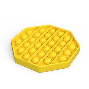 Push Pops Bubble sensorisches Spielzeug für besondere Bedürfnisse Autismus Anti-Stress (Octagon - Gelb)