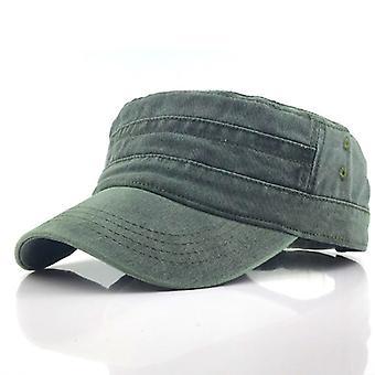 Casual Katoen Soldier Denim Sun Hat Vizier Solid Flat