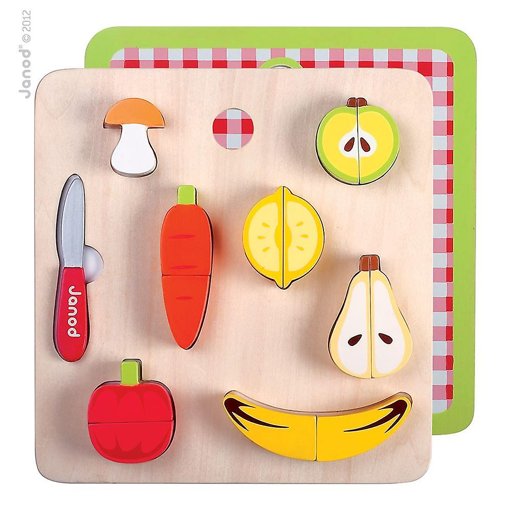 Janod 15 piece Chunky fruit And Vegetables Set 18m+