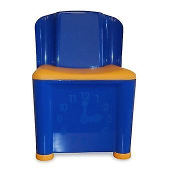 ストレージ ・ アクティビティ再生椅子青と黄色の子供たち