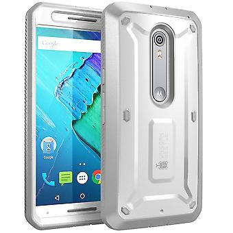 Moto X Pure Edition Case, SUPCASE,Unicorn Beetle PRO,Motorola Moto X Style, Rugged Protective Cover- White/Gray