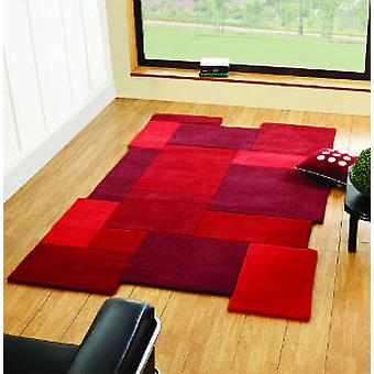 Abstract Collage Red  Rectangle Rugs Plain/Nearly Plain Rugs