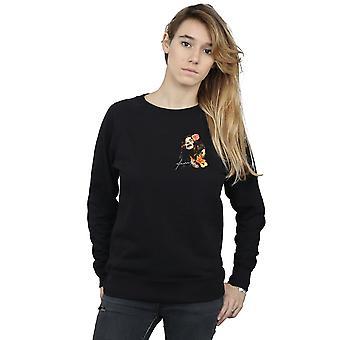Janis Joplin Women's Floral Faux Pocket Sweatshirt