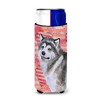 Alaskan Malamute Love Michelob Ultra Hugger for slim cans