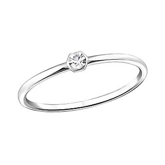 Round - 925 Sterling Silver Jewelled Rings - W31465X