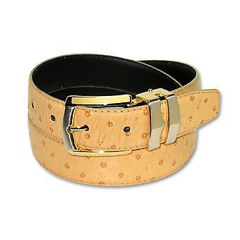 نمط النعامة المستعبدين الجلدية الرجالية ابزيم الحزام الذهب-نغمة