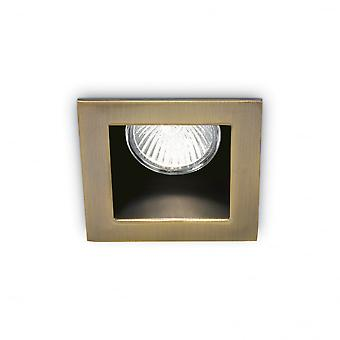 理想的な Lux ファンキーな正方形セット ベゼル、GU10、青銅オフで埋め込み式ダウンライト天井