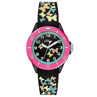 s. Oliver silicone band orologio bambini SO-3275-PQ