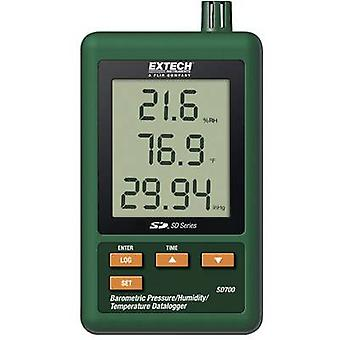 Multi-channel data logger Extech SD700 Unit of measurement Temperature, Air pressure, Humidity 0 up to +50 °C 10 up to 90 RH 10 - 1100 hPa Calibrated to