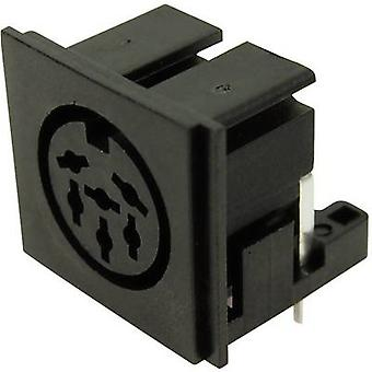 Cliff FC680806 DIN connector Socket, horizontal mount Number of pins: 6 Black 1 pc(s)