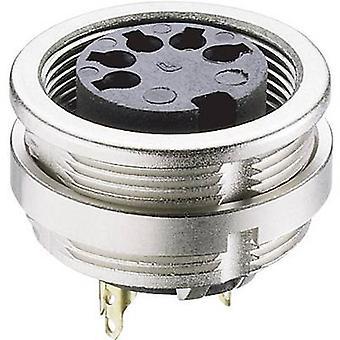 Lumberg 0304 08 DIN-connector aansluiting, verticale verticale aantal pins: 8 zilver 1 PC('s)
