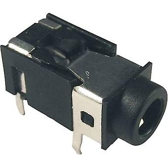 Acantilado FC68129 3.5 mm conector de audio toma, horizontal montaje número de pernos: 4 estéreo negro 1 PC