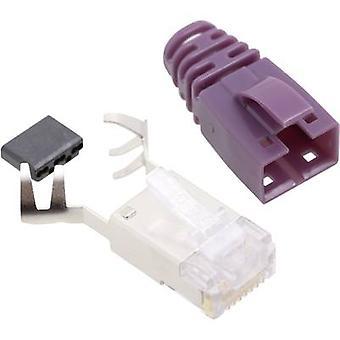 BEL Stewart Konektörler SS39VIOE SS39VIOE RJ45 Konektör CAT 6 8P8C RJ45 Fiş, düz Menekşe