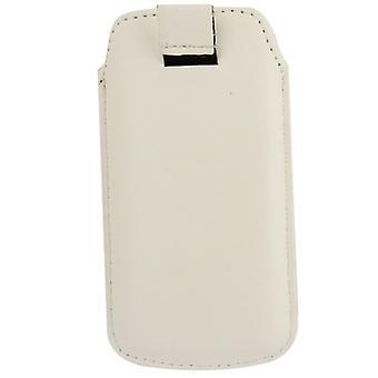 Mobile case bag slide cover white