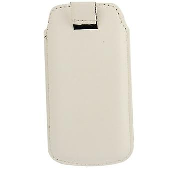 Bolso de la caja móvil de diapositivas cubierta en blanco