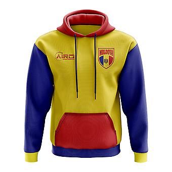 Concepto de Moldova país fútbol con capucha (amarillo)