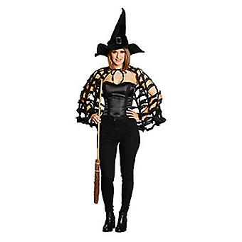 Spider Web Cape zwart camoufleren vrouwen Halloween carnaval carnaval