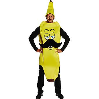 Banan człowiek z mężczyzn mustache kostiumów karnawałowych