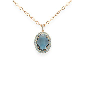 Blue pendant with crystals from Swarovski 9268