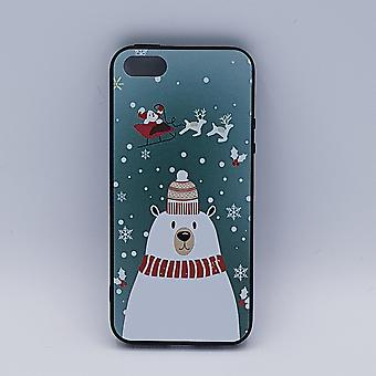 iPhone 5, 5s, SE bolsa-Natal-polar bear com chapéu