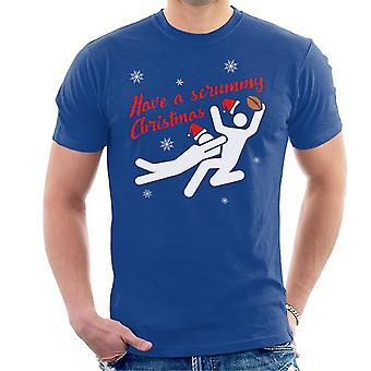 Rugby la t-shirt da uomo Scrummy Natale