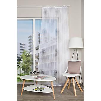 Home Living ideeën 2x gordijn» RAWLINS» rimpel muur Voile afgedrukt H/W 245x140 cm