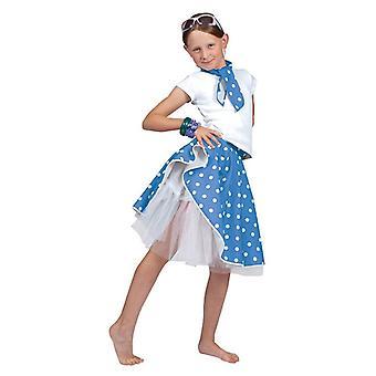 Рок-н-ролл юбка. Синий, один размер.