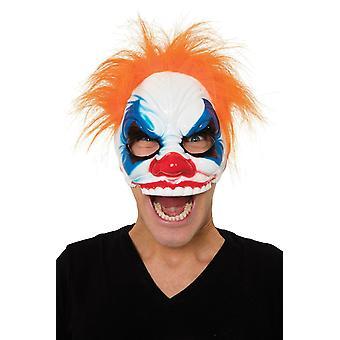 Scary Evil Clown Mask, Hair