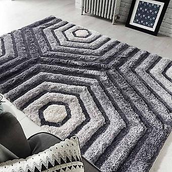 Rugs -Verge Hexagon in Grey