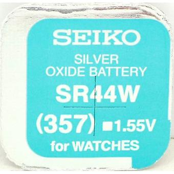 Seiko 357 (sr44w) 1.55v Silver Oxide (0%hg) Mercury Free Watch Battery - Made In Japan