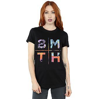 私に地平線レディース BMTH 色彼氏フィット t シャツをもたらす