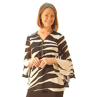 Frank Lyman Blouse 176425 Black With White