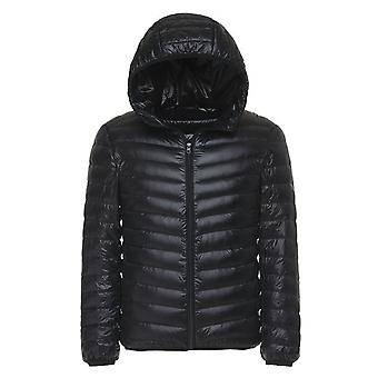 Cloudstyle Men's Down Vest Solid Hooded Winter Coat