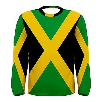 Jamaica Flag langærmet sublimeret Sports Jersey