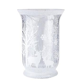 Gisela Graham Glitter Scene Candle Holder
