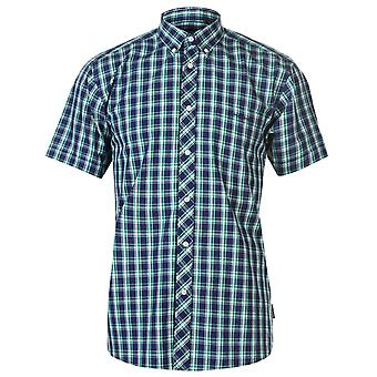 Pierre Cardin Mens petit vérifier Short Sleeve Shirt Casual Tops