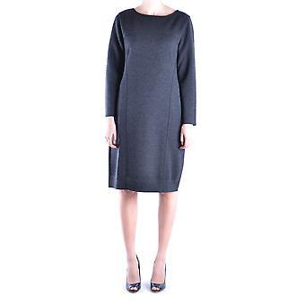 Alberta Ferretti Ezbc027004 Dames's Grey Wool Dress