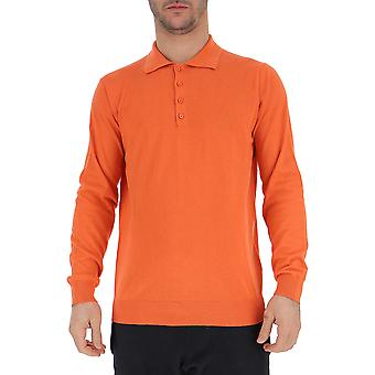 Laneus  S201015 Men's Orange Cotton Polo Shirt