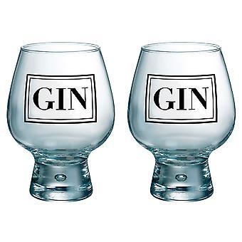 Durobor Fjord Set of 2 Gin Glasses, Black