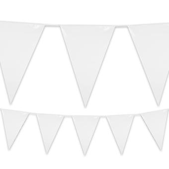 Plastic Bunting 10 Colours Pennant Flags 10m Long Birthday Party Garden Decoration