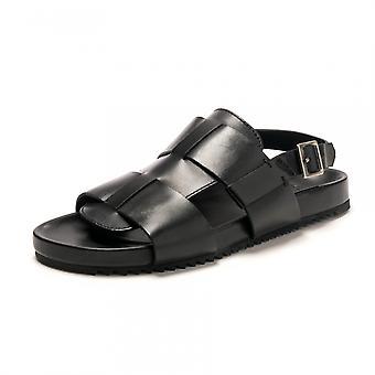 Grenson Grenson Wiley Black Calf Sandal Fbbl F