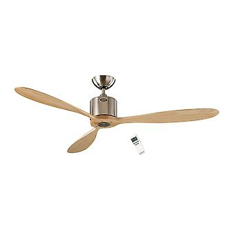 DC plafon ventilator aeroplan Eco Chrome/lemn 132cm/52