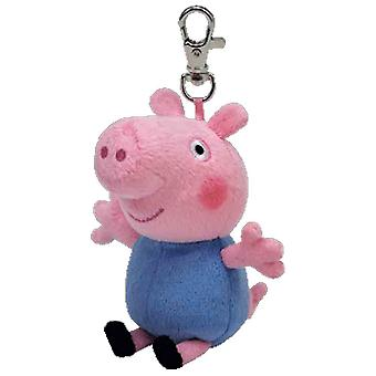 Peppa Pig TY chave Clip - Peppa Pig George