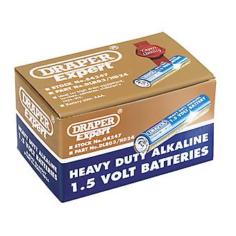 Draper 64247 Trade Pack van 24 AAA-size Heavy Duty alkaline batterijen