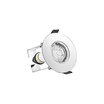 Integraal-LED ronde brand rated downlight Spotlight ronde gepolijst chroom isolatie Guard-ILDLFR70D018