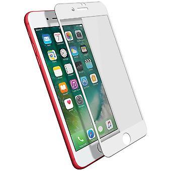 iPhone 7 plus/8 plus film skydd härdat glas 9H kanter avfasade 11D vit