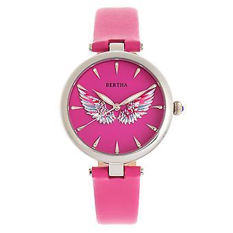Bertha Micah leer-band horloge-roze